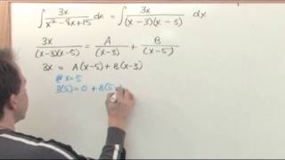 Integration by Partial Fractions in Calculus