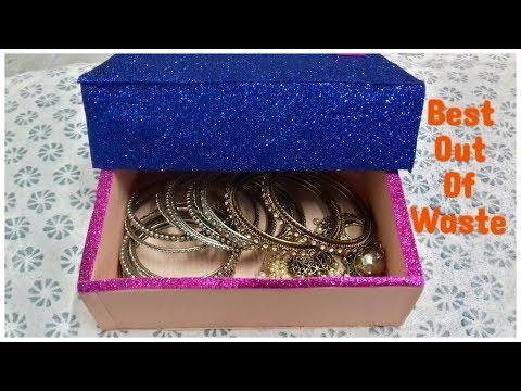 How To Make Jewellery Box With Waste Box   Best Out Of Waste   DIY Jewellery Organizer.