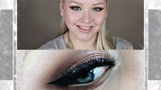 picture perfect for prom glitter smokey eye - makeup tutorial