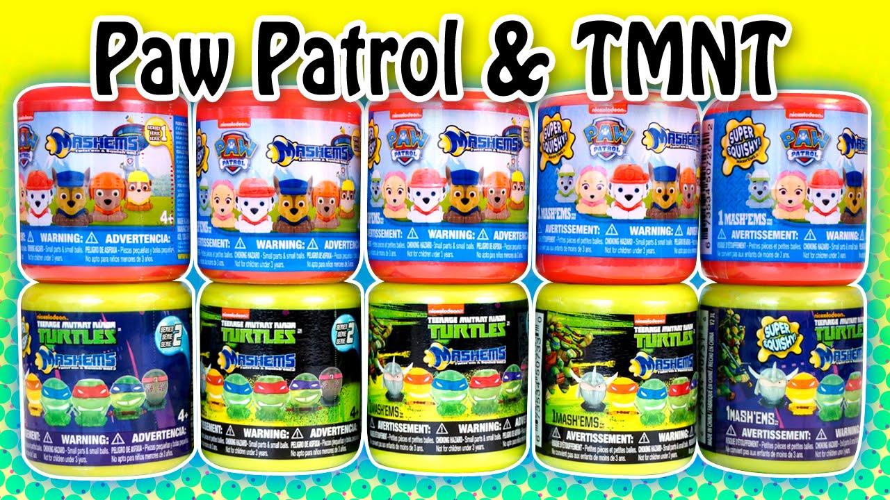 Paw Patrol Amp Tmnt Series2 Mashems Fashems Surprise Toys