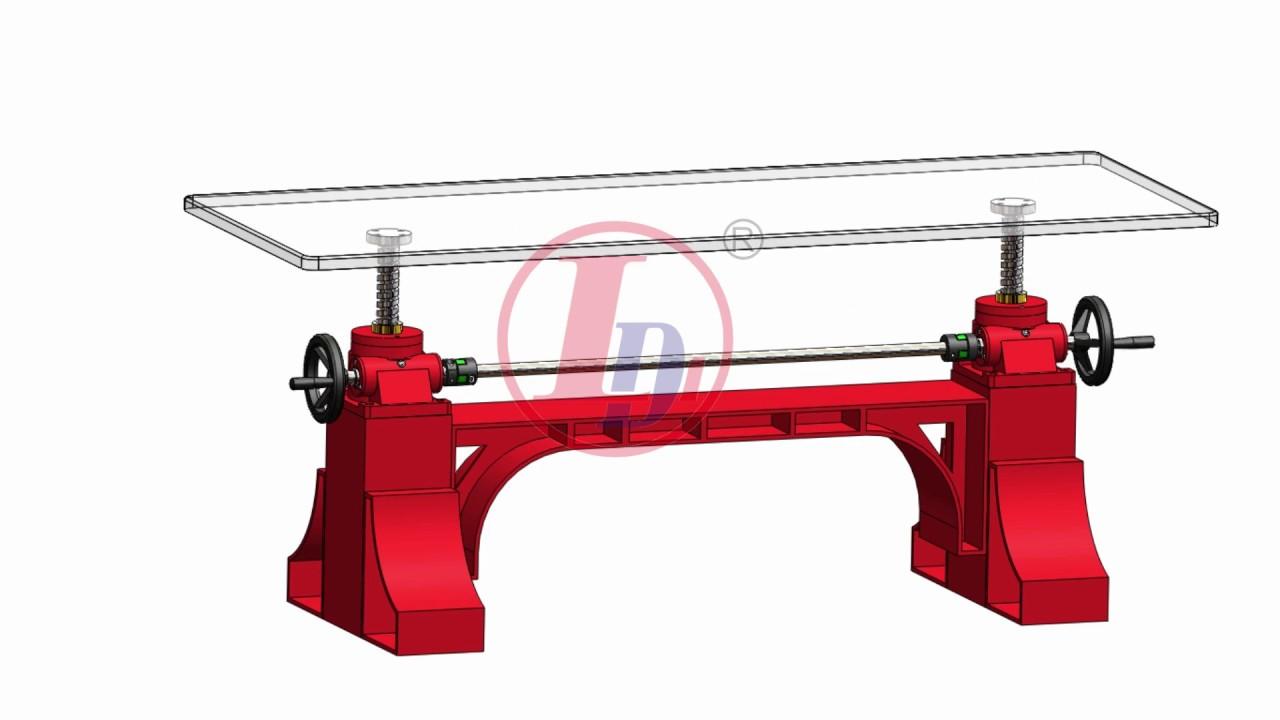 Three Screw Jack Mechanisms for Crank Table/Screw Jack Lifting System