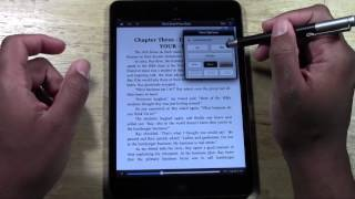 The Kindle App on the iPad Mini