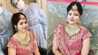 Exclusive HD Reception Bridal Makeover   INDIAN BRIDAL LONG LASTING Summer WATERPROOF Makeup Tutoria