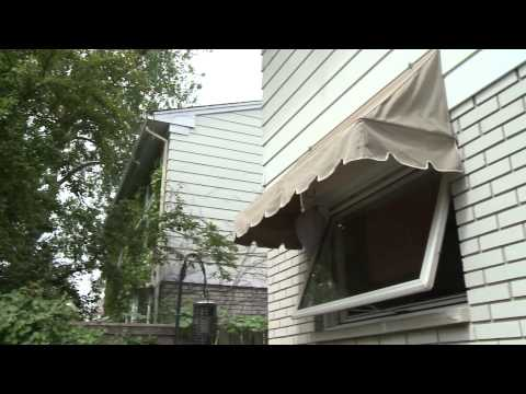 Window awnings for better cooling