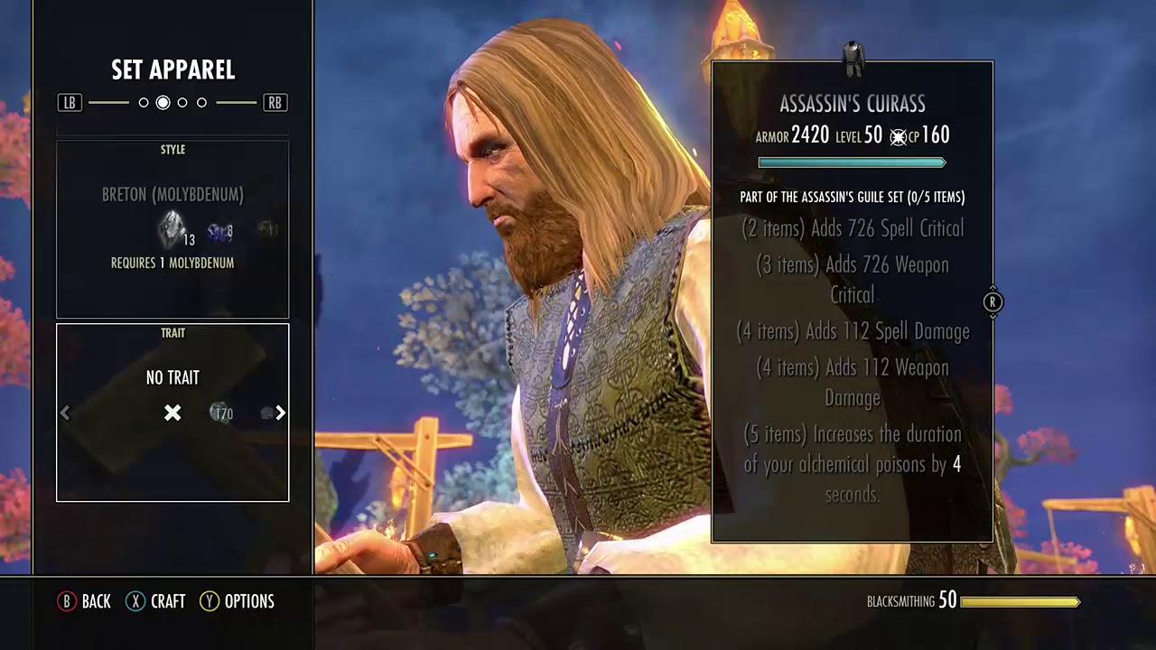 (5) Assassin's Guile is a Set in Elder Scrolls Online (ESO)  Crafted Sets,  Morrowind
