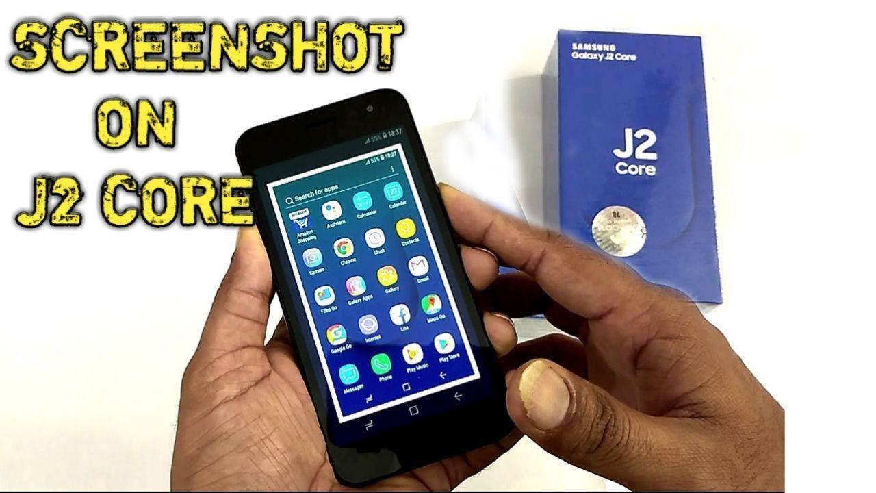 Samsung J2 Core How to take SCREENSHOT on Galaxy J2 core J260G