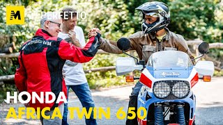 Honda Africa Twin 650 RD03: Test YoungTimer con Alberto Porta [English Sub.]