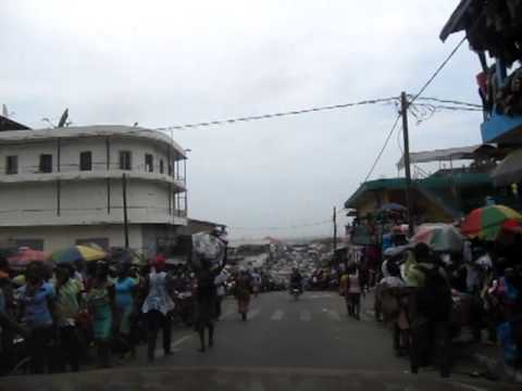 Market in Downtown Monrovia, Liberia