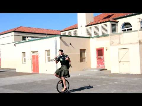 Monkey Island on Bagpipes, Unicycle, and Trumpet