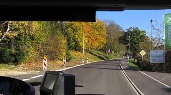 MIttfahrt mit RVO Buslinie 377 von Wolfratshausen Bahnhof nach Bad Tölz ZOB [ 10.2015 ]