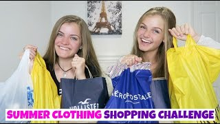 Summer Clothing Shopping Challenge & Try On Haul ~ Jacy and Kacy