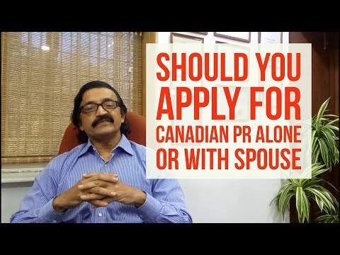 Should I Apply For Canadian Migration PR Alone Or With Family? Manoj Palwe Explains