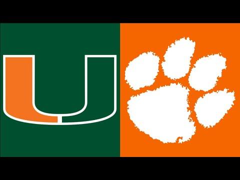 2020 College Football:  (#7) Miami vs. (#1) Clemson (Full Game)