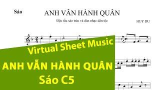 Sheet music: Anh vẫn hành quân - Flute