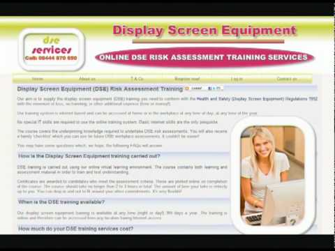 Health And Safety (Display Screen Equipment) Regulations 1992 - DSE Services