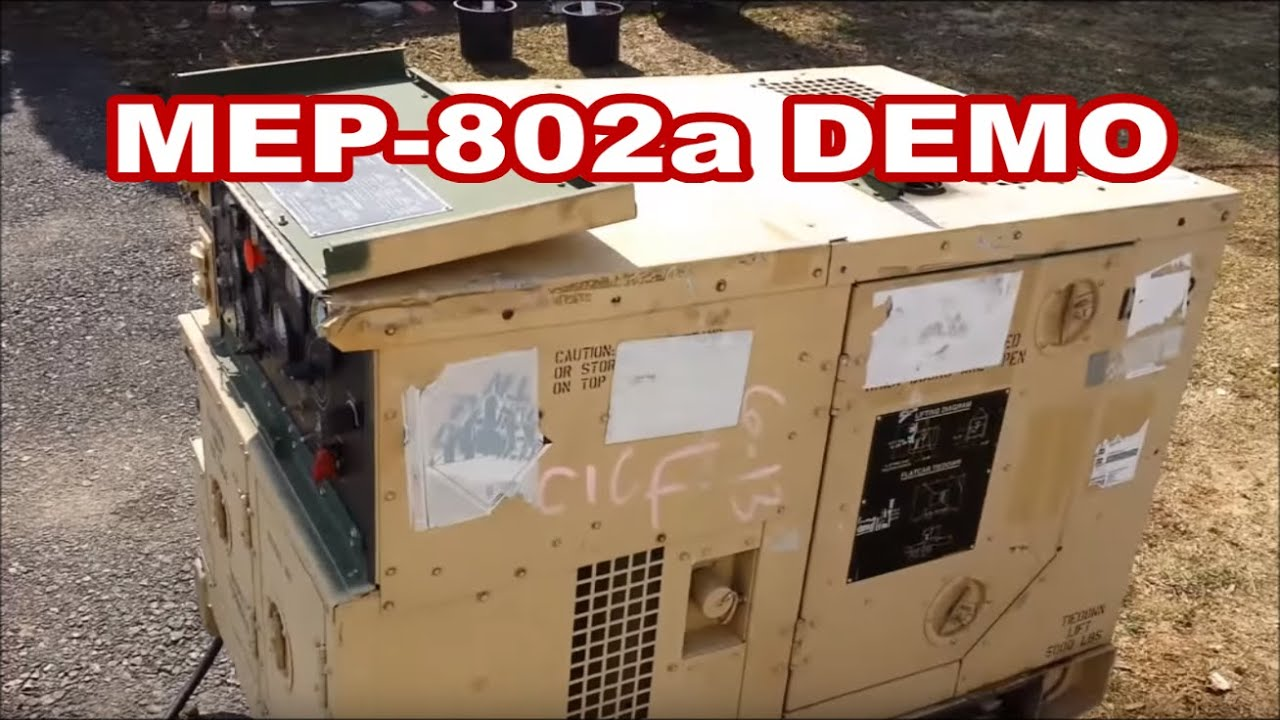 demo mep802a 5kw military generator walk around features