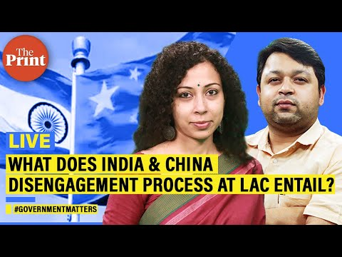 What does India & China disengagement process at LAC entail?