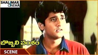 Bobbili Vamsam Movie || Rishi Angry On Rajasekhar || Rajasekhar, Meena, Srihari || Shalimarcinema