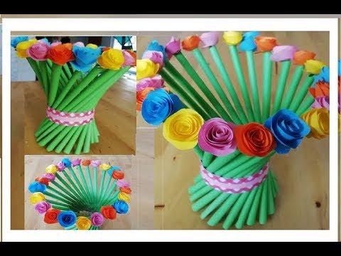 Как сделать бумажную вазу. Поделки из бумажных трубочек своими руками