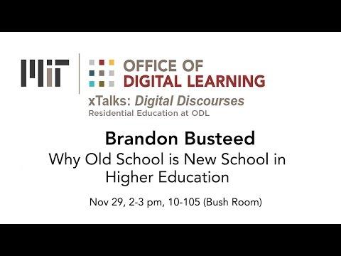 xTalk Nov 29, 2016: Why Old School is New School in Higher Education