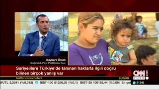 CNN Turk interview on myths about Syrian refugees in Turkey