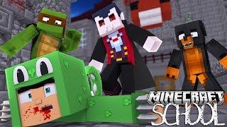 Minecraft SCHOOL - LITTLE LIZARD GETS BITTEN BY VAMPIRES - Donut the Dog