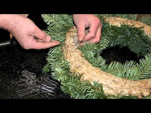 Make your own Christmas Door Wreath - YouTube