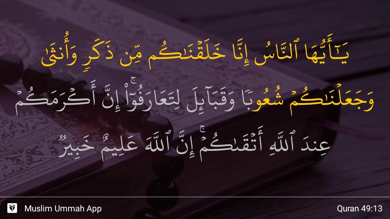Qs 49 13 Surah 49 Ayat 13 Qs Al Hujurat Tafsir Alquran