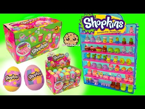Surprise Easter Eggs Blind Bag Shopkins Season 4 Full Box  - Cookieswirlc Video