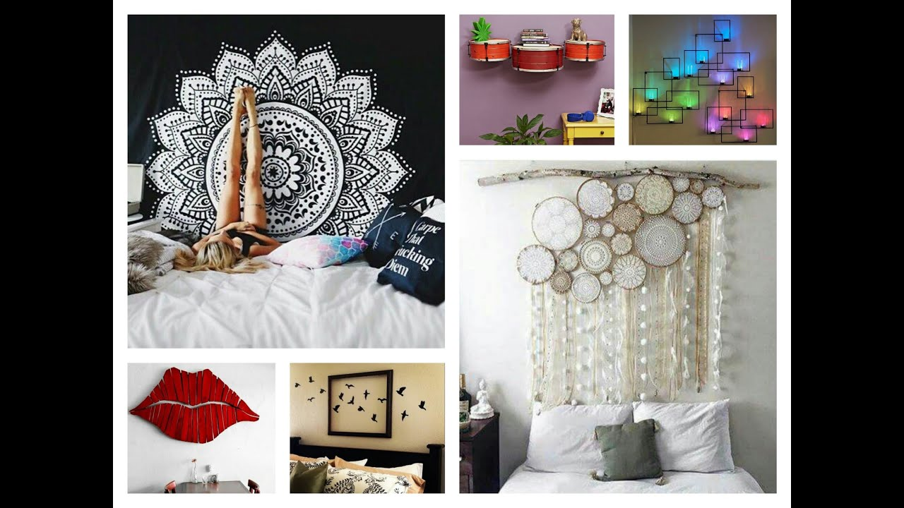 Diy Bedroom Wall Decorating Ideas creative wall decor ideas - diy room decorations - youtube