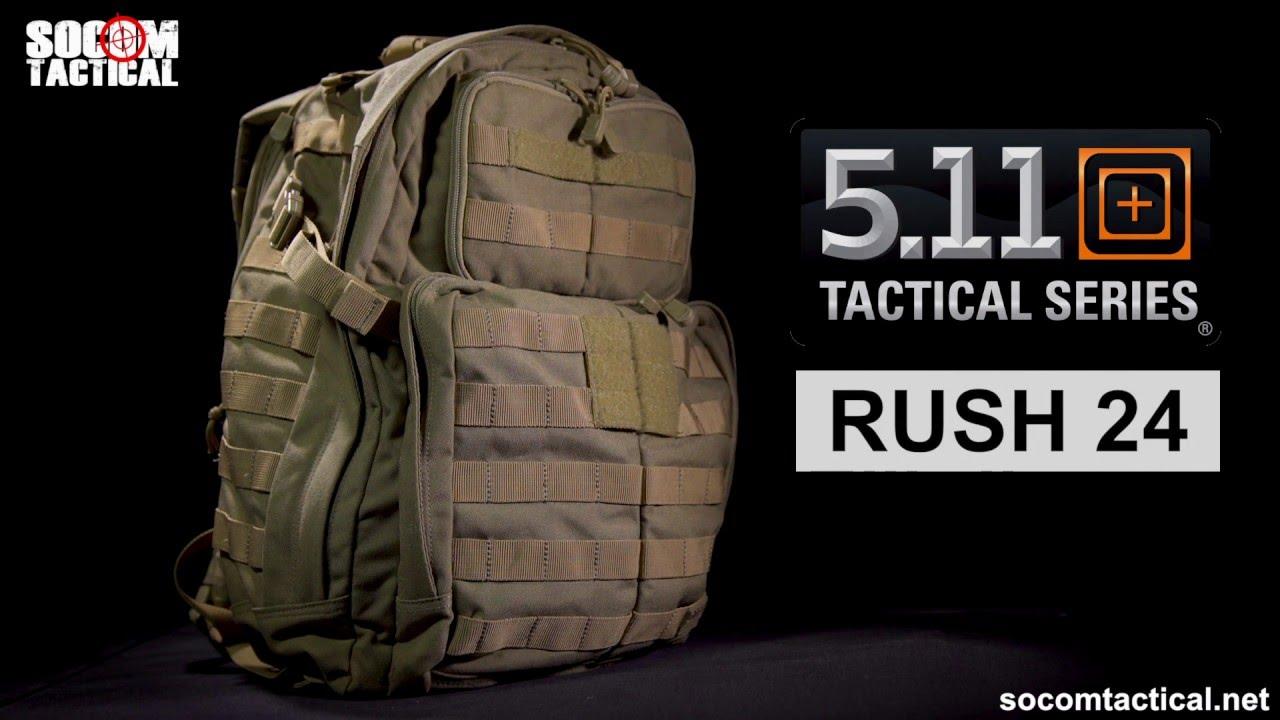 83f5a4b1bdfe 5.11 Rush 24 Rucksack - Socom Tactical - YouTube