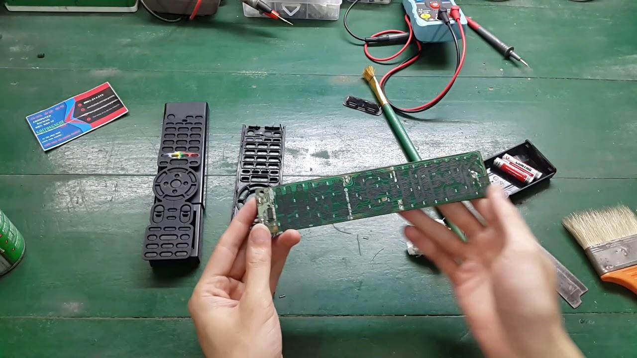 Sửa điều khiển bị liệt nút bấm cực đơn giản