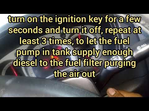 Isuzu DMAX 4jj1 | Fuel line bleeding and fuel filter element DIY