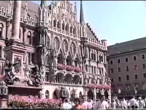 Munich, City Center, Marienplatz, Spring 1990