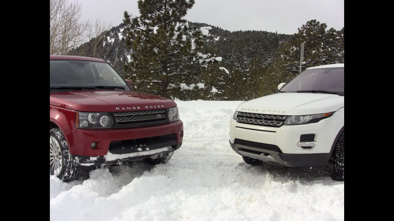 2012 Range Rover Sport vs Evoque Colorado snow-worthy Mashup Review