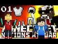Minecraft NATIONS AT WAR - HUGE 100 PLAYER ARMIES! - Ep. 1 ( Minecraft Videos )