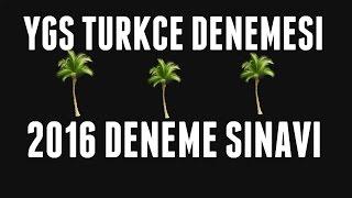 2016 TÜRKÇE DENEME ÇÖZÜMÜ 40 SORU YGSKPSSTEOGLYS