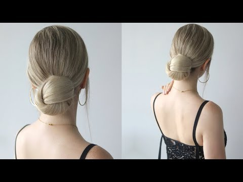 HOW TO: LOW BUN HAIRSTYLE | Easy Bun thumbnail