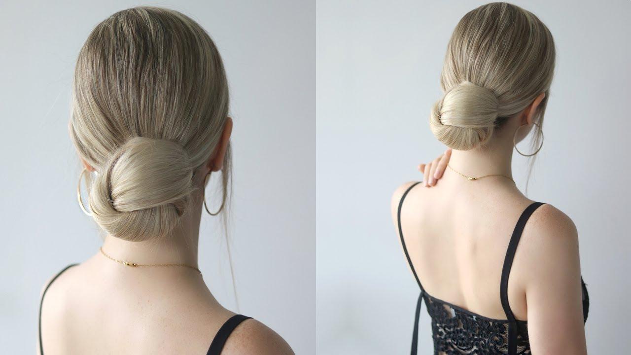 how to: low bun hairstyle | easy bun