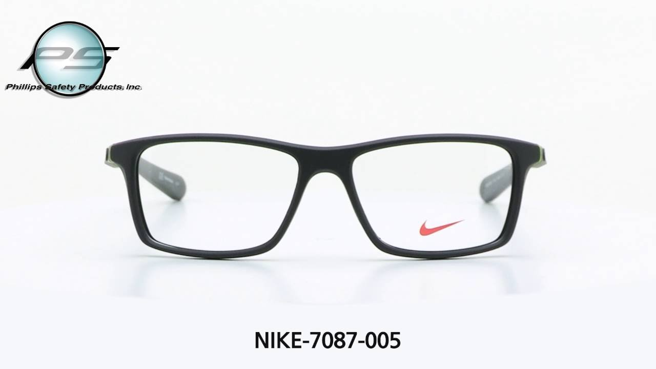 Prescription Safety Frames NIKE 7087 005 - YouTube