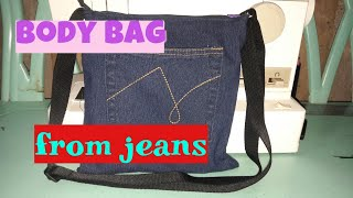 How to Sew a Sling bag (recycled from Jeans)