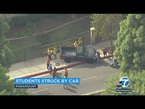 4 students struck by truck at Paramount High School | ABC7