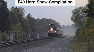 Amtrak F40 Horn Show Compilation - You won