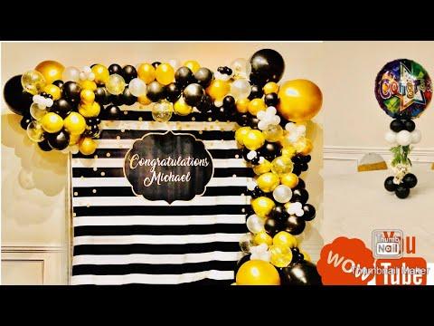 graduation-balloon-garland//-how-to-make-balloon-garland