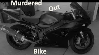 Murdered Out Bike At Night!!