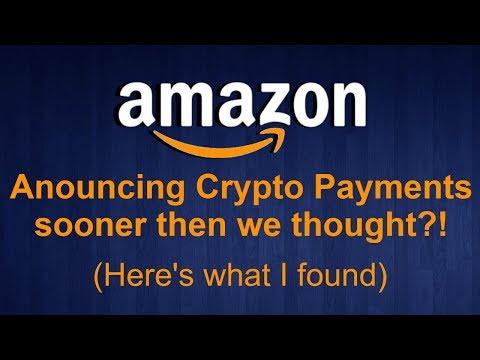 I Contacted Amazon regarding Crypto Payment Methods   Here are my Results..   **Shocking**