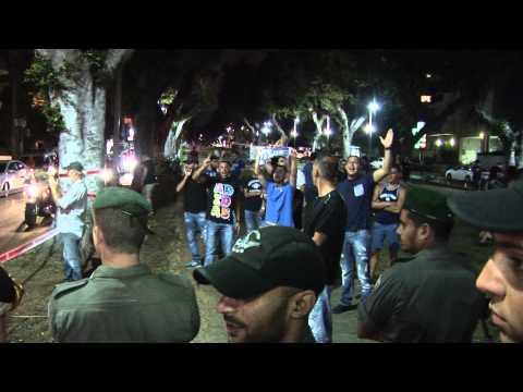 Protest against the Israeli attack on Gaza, Tel Aviv, Israel, 19.7.2014