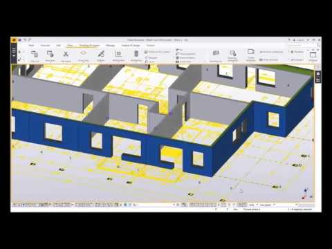 Tekla Structures 2016.  New tool: Wall Layout