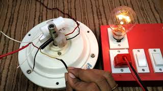 How to Identify Ceiling Fan Running and Starting wire by Torque Test using Series Testing Board