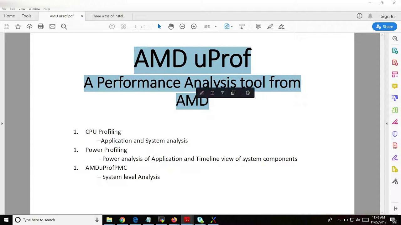 Amd Uprof Linux Installation Youtube